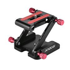Andoer Aluminum Alloy Z Flex Tilt Tripod Head Folding Quick Release Plate Camera