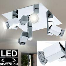 Chrom LED Decken ALU Spot Lampe Strahler beweglich Beleuchtung Büro Flur Leuchte