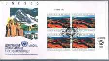 Onu New York Mi 625 World Heritage Fdc Bloc De 4