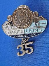 LIONS CLUB CANADA BARRIE ONTARIO VINTAGE PIN 35