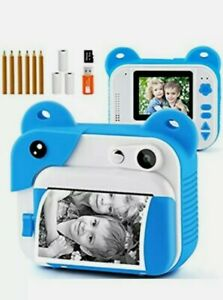 PROGRACE Instant Print Camera for Kids, Kids Instant Camera for Travel Learning