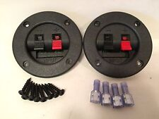 "2-3"" Subwoofer Speaker Box Terminal Cups & 4-14/16ga Connectors & 8-Screws"