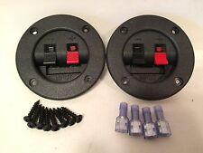 "2-3"" Subwoofer Speaker Box Terminal Cups & 4-14/16ga Connectors & 8-Screws"