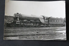 LNER A3 Class 2502 Hyperion steam train black and white photograph.