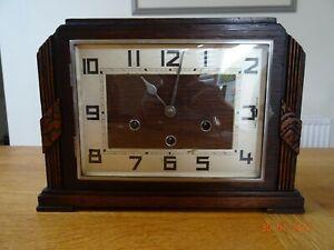Art Deco German Kienzle Rectangular Westminster Chime Mantle Clock
