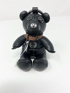 COACH 2750 Marvel Comics Black Panther Key Ring Bag Pack Charm Unisex Black NWT