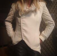 "Sass & Bide ""Beautiful Fool"" Fur Leather Wool Coat/Jacket sz 38 Au 10"