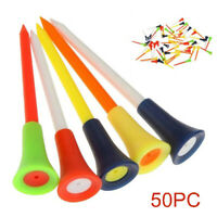 50Pcs/Set Golf Tees With Cushion Top 83MM Large PVC Tee Multi Color Accessories
