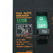 New In Box Fuji Ea103b 3p 75a Circuit Breaker