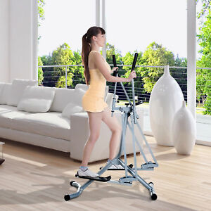 HOMCOM Air Walker Glider Cross Trainer Fitness Machine with LCD for Home Gym