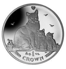 2014 Isle of Man Snowshoe Cat Coin 1 oz Silver Proof with Box & Coa