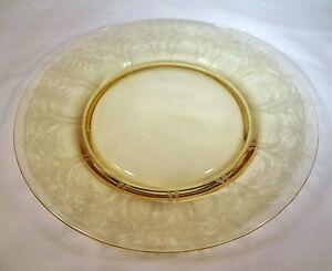 4 Vintage Morgantown PINK Crinkle Blown Glass Luncheon Salad Plates