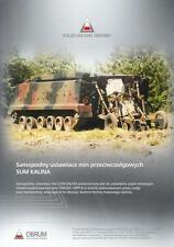 OBRUM KALINA 2014 PHO TRACKED VEHICLE MILITARY BROCHURE PROSPEKT FOLDER DEPLIANT
