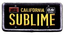 Sublime License Plate Embroidered Patch S085P Rancid Operation Ivy