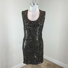 Guess S Brown Sequin Bodycon Dress Cocktail Formal Mini stretch