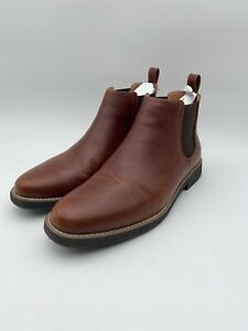 Deer Stags Mens Rockland Redwood Vega Brown Ankle Boots Size 10.5