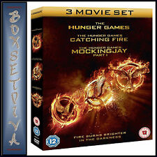THE HUNGER GAMES 1 2 & 3 MOVIE BOXSET- TRIPLE PACK  **BRAND NEW DVD ***