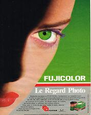 PUBLICITE ADVERTISING 035  1986   FUJI FILM  FUJICOLOR HR 100