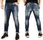JUSTING Herren Skinny Biker Jeans Hose Destroyed Kosmo Japan Style Neu 01047