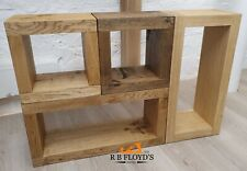 Solid Oak Cubes Box - Modular Display Storage - SET OF 4 Ex Display