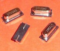 4x Quarz 24.576 MHz SMD HC49 Arduino Oszillator Timer etc. 24f57 J/j