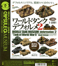 New Capsule Q 1/100 KAIYODO WTM figure Tank of WWII Deformation 2 Random Pick