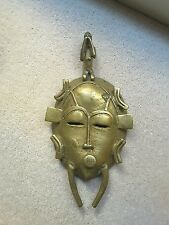 Rare antique African Senoufo mask in bronze, not gold weight