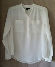 J Crew Womens Silk popover shirt in ivory Size 10 #E9133 $110 Blouse Top