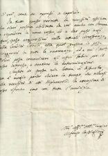 Milano Lettera Autografa di Alfonso Castiglioni 1798