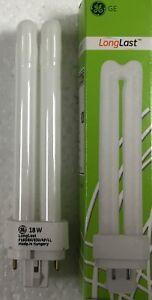 Packs of GE 18W 4 pin 830 Warm White Lynx-DE PLC, Dulux DE Biax DE 18 Watt