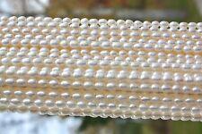 OV01 AA 6-7 mm Zuchtperlen Strang Süßwasser Perlen Schmuck Oval Kette Halskette