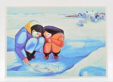 "Art Print Card by CLAIRE FEJES (1920-1998) ""Snow Writing"" Noatak Alaskan Natives"