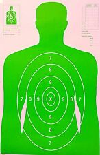 Paper Shooting Targets Green Silhouette Gun Pistol Rifle B27 W/Arms Qty:20 23x35