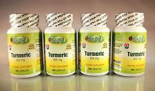 Turmeric curcumin extra strength 800mg, Made in USA - 400 (4 x 100) capsules