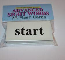 78 Sight Word - Flash Cards- Advanced level Preschool Kindergarten homeschool