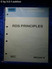 Sony Manual SEC RDS Principles Technical Information (#6508)