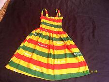 Dress, Handmade Jamaica Rasta Colour Dress.......7-8yrs