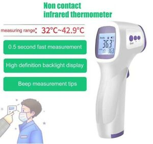 Termometro Digitale senza contatto a infrarossi febbre temperatura lcd digitale