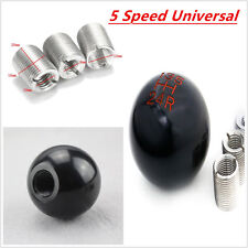 5-Speed Car Ball Style Manual Gear Stick Shifter Shift Knob Lever Black