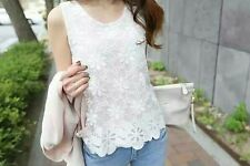 Korean Fashion Ladies Women Clothing Elegant Smart Casual Slim Cut Lace Tank Top