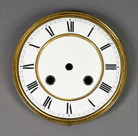 altes ZIFFERBLATT EMAIL D 146 Uhrenzifferblatt Regulator Wanduhr Uhr clock dial
