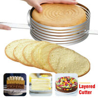 Pastry Baking Mousse Cake Cutter Round Ring Layer Slicer Mold Adjustable 9-12""