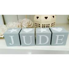 Personalised name letter baby christening wooden blocks gift. Price per block