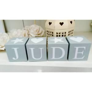 Personalised name letter baby christening wooden blocks gift. Price per block