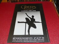 COLL. J.LE BOURHIS DANSE BALLET/ AFFICHE OPERA PARIS GARNIER SAISON 1989-1990