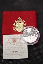 2001 VATICAN POPE JOHN PAUL II DIALOG FOR PEACE PROOF SILVER COIN B&C £ 2000