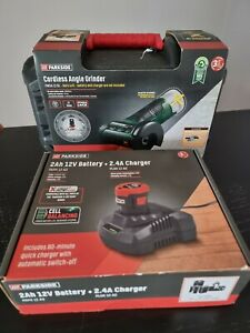 Parkside Cordless PWSA 12 B1 12VAngleGrinderwith Battery, Charger & Case NEW