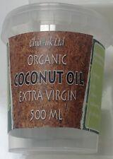 500ml CHIA4UK Organic Extra Virgin Sri Lankan  Coconut Oil in Eco Tub Only £5.99