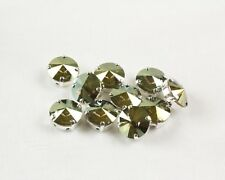 12 Swarovski Crystal Iridescent Green Sew On 12MM Rivoli Chaton Rhinestone #1122