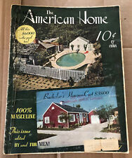 The American Home Magazine Aug. 1941 Issue, Building, Decor, Gardens, Ads